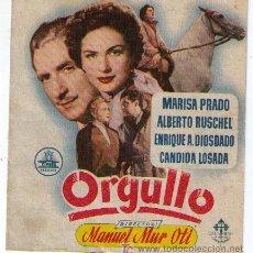 Cine: ORGULLO. DOBLE DE CIFESA. MÁLAGA CINEMA.. Lote 16159207
