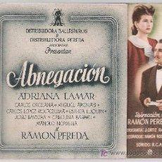 Cine: ABNEGACIÓN. DOBLE DE BALLESTEROS.. Lote 16164939