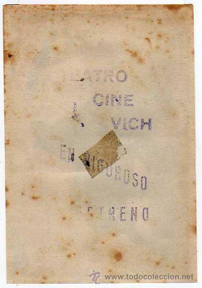 Cine: Folleto de mano: MARAVILLA DEL TOREO Con CONCHITA CINTRON PUBLI TEATRO CINE VICH - Foto 2 - 37351746