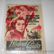 Cine: PIEDAD PARA EL CAIDO. ANTONELLA LUALDI. AMADEO NAZZARI. PUBLICIDAD DE CINEMA MAIQUEZ 1957.. Lote 26318733