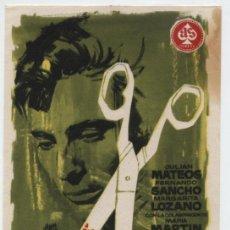Foglietti di film di film antichi di cinema: CRIMEN. SENCILLO DE AS FILMS.. Lote 16204197