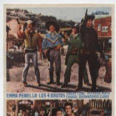 Cine: LOS BRUTOS EN EL OESTE. PROGRAMA SENCILLO. CINEMA MODERNO - CABRA.. Lote 16286556