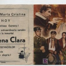 Cine: MORENA CLARA. DOBLE DE CIFESA. COLISEO MARÍA CISTINA - LARACHE.. Lote 242130295