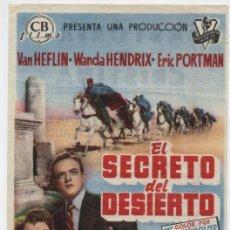 Cine: EL SECRETO DEL DESIERTO. SENCILLO DE CB FILMS. CINES ASTORIA Y CRISTINA.. Lote 16228584