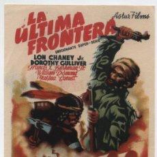 Cine: LA ÚTIMA FRONTERA. SENCILLO DE HERNAN FILMS.. Lote 16228612