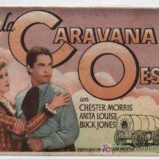 Cine: LA CARAVANA DEL OESTE. SENCILLO DE CHAMARTÍN. CINE MADRID.. Lote 16248278
