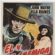 Cine: EL Y SU ENEMIGA. SENCILLO DE RKO RADIO. CINE LICEO - MÉRIDA 1954.. Lote 16250661