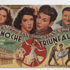 Cine: NOCHE TRIUNFAL. SENCILLO DE UNIVERSAL FILMS ESPAÑOLA. CINE AVENIDA - SEVILLA 1947.. Lote 16270366