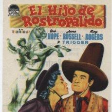 Cine: EL HIJO DE ROSTRO PÁLIDO. SENCILLO DE PARAMOUNT. CINE DORADO 1954.. Lote 16270572