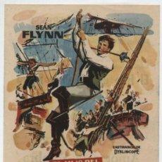 Folhetos de mão de filmes antigos de cinema: EL HIJO DEL CAPITÁN BLOOD. SENCILLO DE SUEVIA FILMS. CINE LLAGOSTERENSE 1963.. Lote 16271958