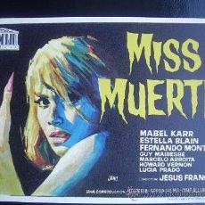 Cine: MISS MUERTE - JESUS FRANCO. Lote 16301137