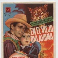 Cine: EN EL VIEJO OKLAHOMA. SENCILLO DE U FILMS. CINE RIGAT - CAMPRODÓN 1947.. Lote 16324164