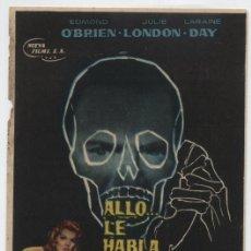 Foglietti di film di film antichi di cinema: ALLÓ...LE HABLA EL ASESINO. SENCILLO DE NUEVA FILMS. COLISEUM GARCILASO - TORRELAVEGA 1964.. Lote 16325164