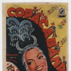 Cine: COPACABANA. SENCILLO DE BOGA FILMS. CINE VICTORIA - SEVILLA 1950.. Lote 16326842