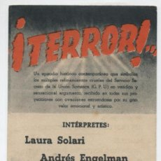 Cine: ¡TERROR! DOBLE DE UFA. MONUMENTAL CINEMA 1944.. Lote 16368038