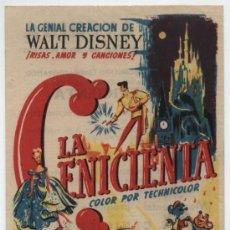 Cine: LA CENICIENTA. SENCILLO DE RKO RADIO. CINE AVENIDA -FESTIVIDAD DE SAN ANTÓN.. Lote 16387252