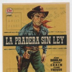 Cine: LA PRADERA SIN LEY. SENCILLO DE CEA. COLISEO EQUITATIVA.. Lote 16387745