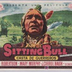 Cine: SITTING BULL. SENCILLO DE UNITED ARTISTS. CINE MAJESTIC - TÁRREGA.. Lote 16421715