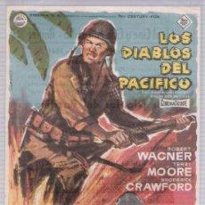 Cine: LOS DIABLOS DEL PACÍFICO. SENCILLO DE 20TH CENTURY FOX. CINES IDEAL Y MARAVILLA - ANGLÉS.. Lote 16422783