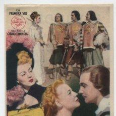 Cine: LOS TRES MOSQUETEROS. SENCILLO DE MGM. CINE WINDSOR.. Lote 16440312