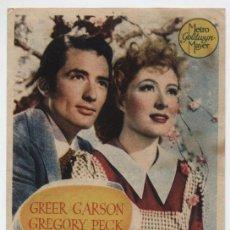 Cine: EL VALLE DEL DESTINO. SENCILLO DE MGM. CINE VICTORIA.. Lote 16440369