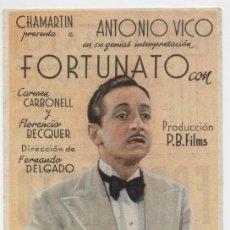 Cine: FORTUNATO. SENCILLO DE CHAMARTÍN. CINE RENACIMIENTO.. Lote 16434063