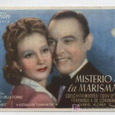 Cine: MISTERIO EN LA MARISMA. SENCILLO DE SUR FIMS. CINEMA - FERROL.. Lote 16436802