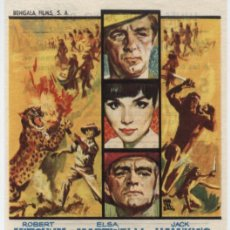 Cine: SAFARI EN MALASIA. SENCILLO DE BENGALA. TEATRO CINE ALCAZABA -MÉRIDA 1964.. Lote 16437564