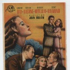 Cine: LA HUELLA DE UN RECUERDO. SENCILLO DE CB FILMS. CINE SAN SEBASTIÁN - SEVILLA 1950.. Lote 16437870