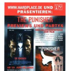 Cine: THE PUNISHER, CON JOHN TRAVOLTA. POSTAL-PROGRAMA.. Lote 159560472
