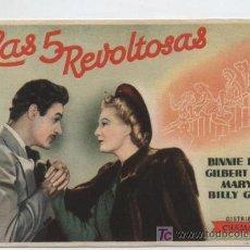 Cine: LAS 5 REVOLTOSAS. SENCILLO DE CHAMARTÍN.. Lote 16487868