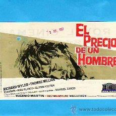 Cine: EL PRECIO DE UN HOMBRE- PROGRAMAS DE CINE Y OTROS-COLECCIONISMO EN GENERAL-RASTRILLOPORTOBELLO. Lote 32042029