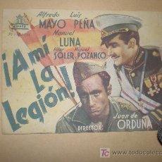 Cine: PROGRAMA DE CINE ¡A MI LA LEGÓN! (DOBLE CON PUBLICIDAD ) ALFREDO MAYO. Lote 18277686