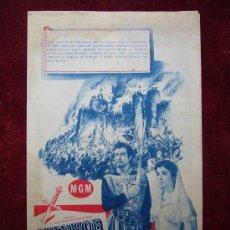 Cine: PROGRAMA DOBLE IVANHOE ELIZABETH TAYLOR - CINE FORTUNY BLANES 1953. Lote 18358568