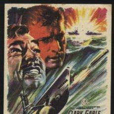 Cine: P-9228- TORPEDO (RUN SILENT, RUN DEEP) (CINE GRAN VIA - CARAVACA) CLARK GABLE - BURT LANCASTER. Lote 26847958