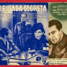 Cine: BRIGADA SECRETA , DOBLE , S1744. Lote 17063461