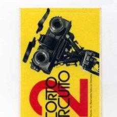 Flyers Publicitaires de films Anciens: CORTACIRCUITO 2. PROGRAMA-ADESIVO-PEGATINA.. Lote 75649517