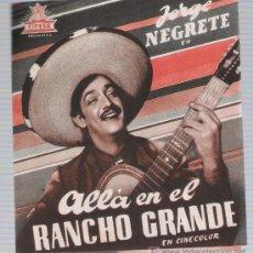 Cine: ALLÁ EN EL RANCHO GRANDE. DOBLE DE CIFESA. TEATRO VILLAMARTA. ¡IMECABLE!. Lote 17486175