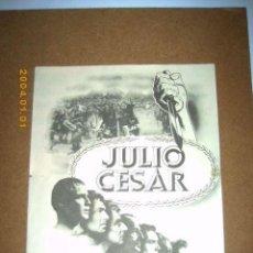 Cine: JULIO CESAR, MARLON BRANDO, DEBORAH KERR, DOBLE GRANDE, CON PUBLICIDAD1955. Lote 26771894