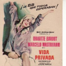 Cine: VIDA PRIVADA. BRIGITTE BARDOT Y MASTROIANNI. MAS COLECCIONISMO EN GENERAL EN RASTRILLOPORTOBELLO. Lote 131105997