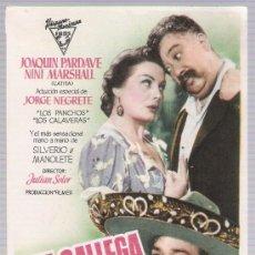 Cine: UNA GALLEGA EN MÉXICO. SENCILLO DE HISPANO MEXICANA FILMS. CINE AVENIDA - UBRIQUE.. Lote 17634124