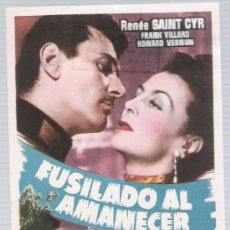 Cine: FUSILADO AL AMANECER. SENCILLO DE CEPICSA.. Lote 17711399
