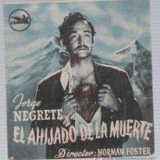Cine: EL AHIJADO DE LA MUERTE. DOBLE CANCIONERO DE CEPICSA. CINE ALBÉNIZ - MÁLAGA.. Lote 17715709