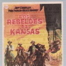 Cine: LOS REBELDES DE KANSAS. SENCILLO DE CEA. CINE CAPITOL - MÁLAGA 1956.. Lote 17715943