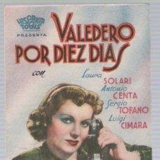 Cine: VALEDERO POR DIEZ DÍAS. DOBLE DE HISPANIA TOBIS. CINEMA RÁBIDA - HUELVA.. Lote 17716124