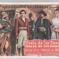Cine: MARÍA DE LOS ANGELES. SENCILLO DE BALLESTEROS.. Lote 17749992