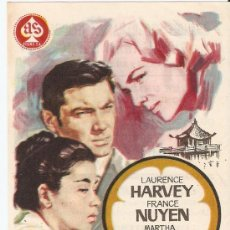 Cine: UNA MUCHACHA LLAMADA TAMIKO - LAURENCE HARVEY, FRANCE NUYEN - AS FILMS, PARAMOUNT - JANO. Lote 36351815