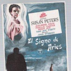 Cine: EL SIGNO DE ARIES. SENCILLO DE CICOSA.. Lote 17762993