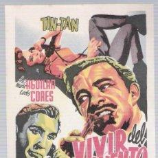 Cine: VIVIR DEL CUENTO. PROGRAMA SENCILLO.. Lote 17767429