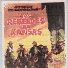 Cine: LOS REBELDES DE KANSAS. SENCILLO DE CEA. CINE COLISEUM - ARTESA DE SEGRE 1963.. Lote 17771314